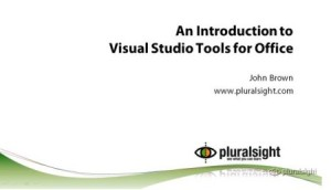 introduction-to-visual-studio-tools-for-office-plurlsight-187742