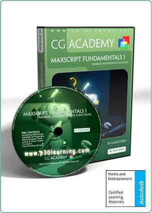 max script cg academy p30learning.com  دانلود DVD هفدهم آموزش تردی مکس CGAcademy Max Script1